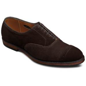 Allen Edmonds Fifth Avenue With Combination Tap Sole in Bitter Chocolate Suede