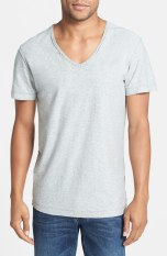 Diesel 'Tossik' V-Neck T-Shirt in Light Grey