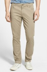 Vince Five Pocket Stretch Cotton Pants in Khaki