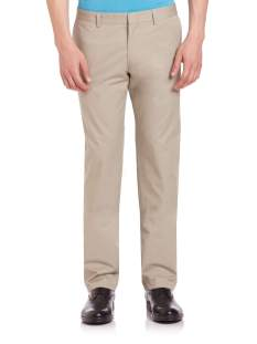 Z Zegna Straight Fit Beige Chino