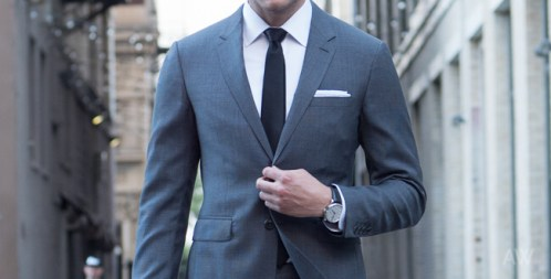 Every Man Must Know About Wearing a Suit the shoulders should fit man