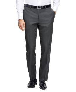 Brooks Brothers - Milano Fit Plain-Front Flannel Trousers