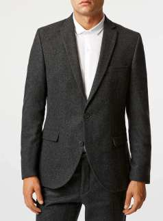 Topman - Selected Homme Grey Blazer