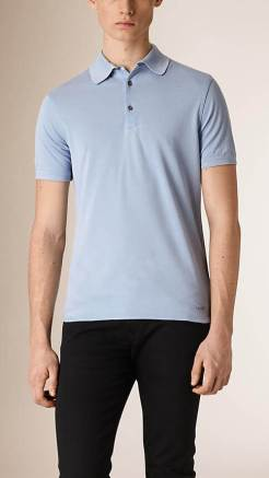 Burberry Silk Cotton Polo Shirt