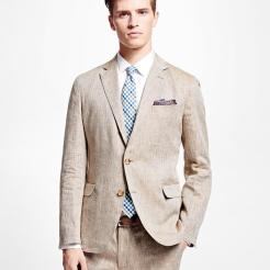 Brooks Brothers Herringbone Irish Linen Sport Coat