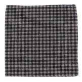 The Tie Bar Metric Plaid Charcoal Pocket Square