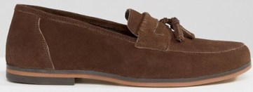 ASOS Loafers in Brown Suede