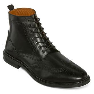 Stafford Deacon Wingtip Black Boot