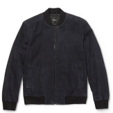 Theory Brant Suede Bomber