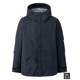 Uniqlo Men U BlockTeck Navy Parka