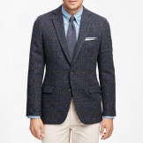 Brook's Brothers Fitzgerald Fit Harris Tweed Tic Windowpane Sport Coat