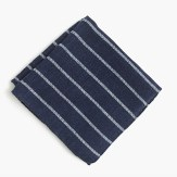 J. Crew English Wool Silk Pocket Square in Stripe