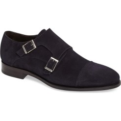 Crosby Square Double Monk Strap Navy
