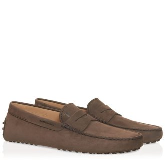 Tods Dommino Driving Shoes - Brown - Ashley Weston