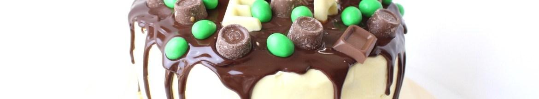drip cake met chocolade ganache