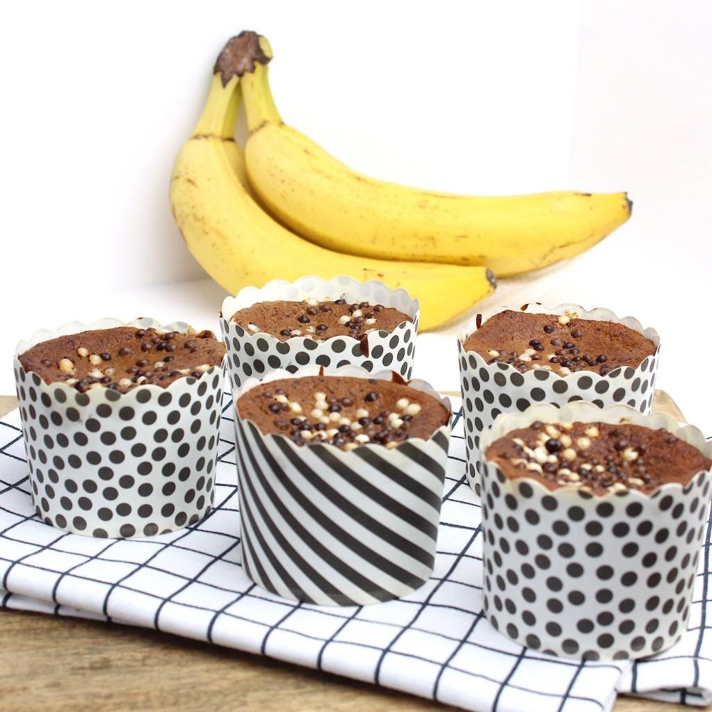 bananenbrood muffins met chocolade