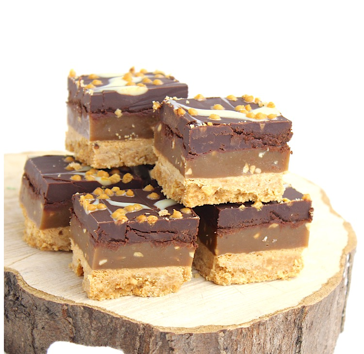 caramel shortcake met nootjes