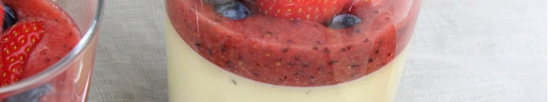 Zomerse vanille panna cotta met rood fruit