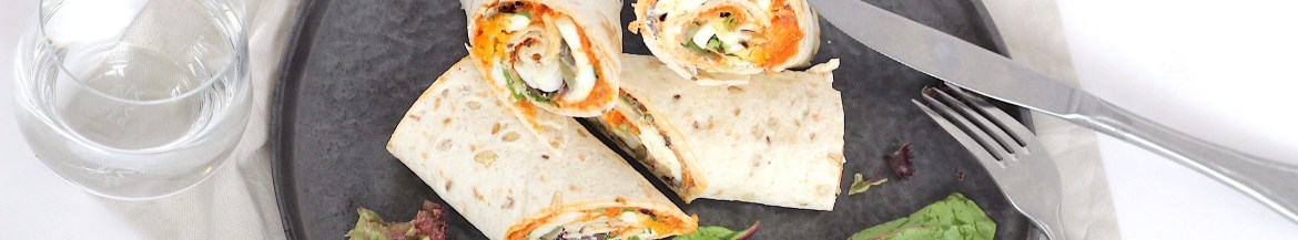 Wraps met filet american en ei