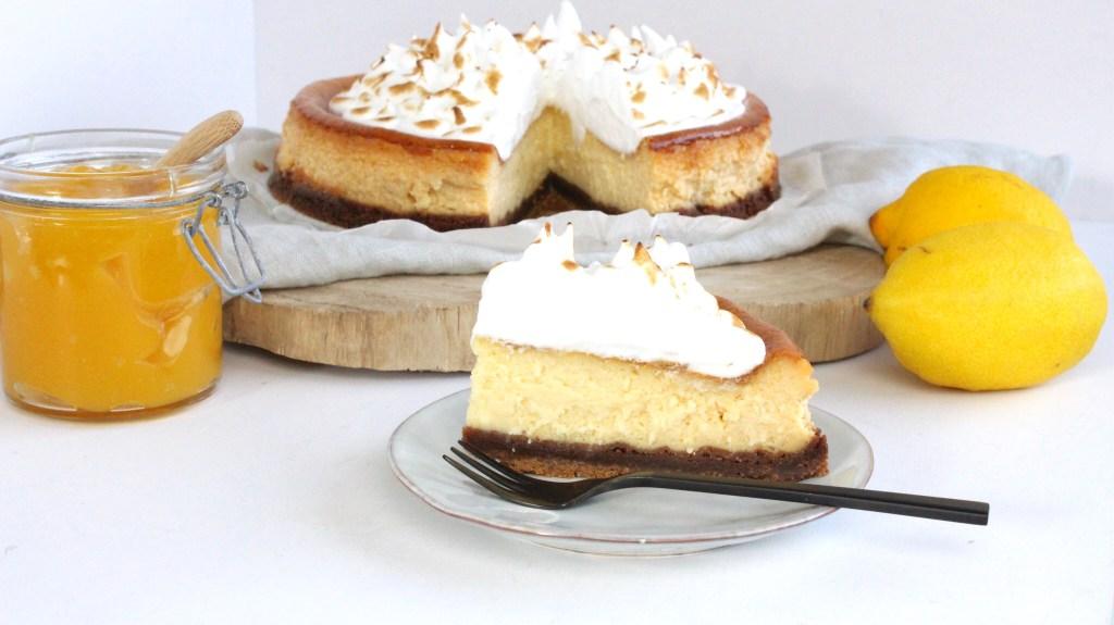Lemon cheesecake met Italiaanse meringue