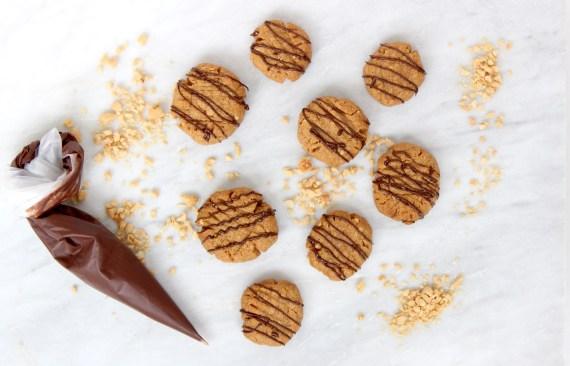 Pindakaas koekjes met pure chocolade