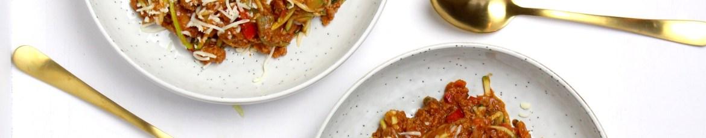 Simpele courgetti spaghetti met gehakt