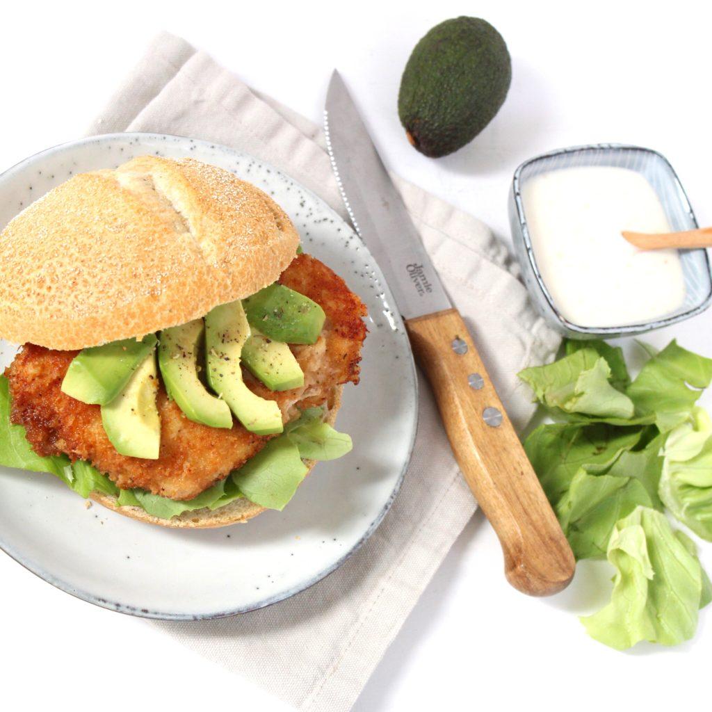 Simpele krokante kipburger