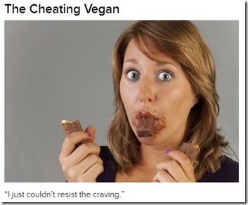 cheating vegan