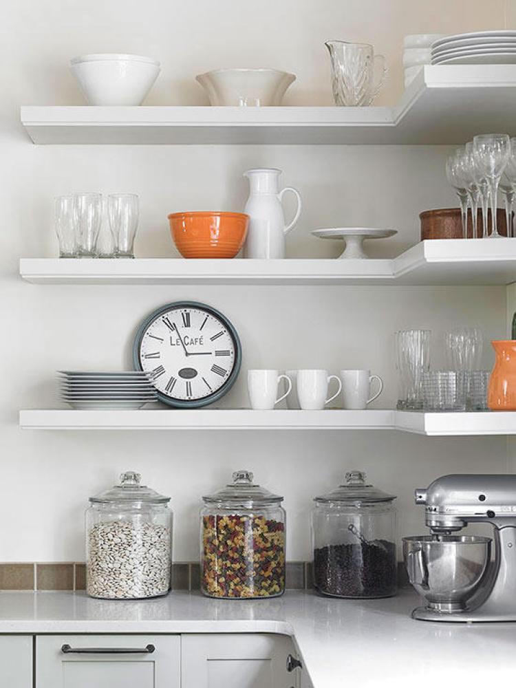 corners shelf ideas for kitchen