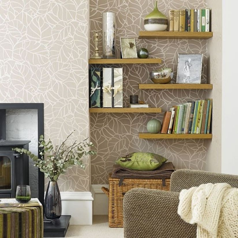 Living Room Wall Shelf Decor Ideas