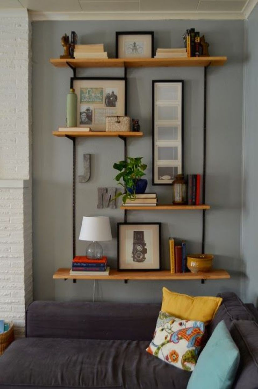 wall shelf ideas for living room