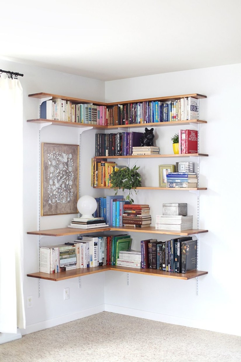 corner shelf ideas for bedroom