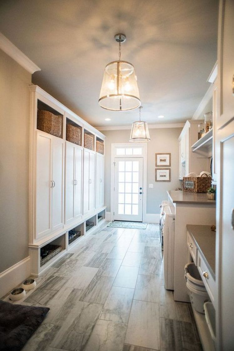 Mudroom Ideas with washer and dryer