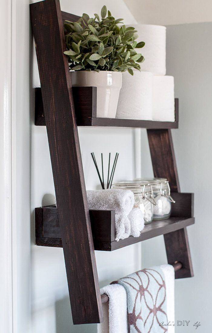 10 IN Espresso Floating Shelf Home Decor Wall Organizer Bookcase Storage Wood