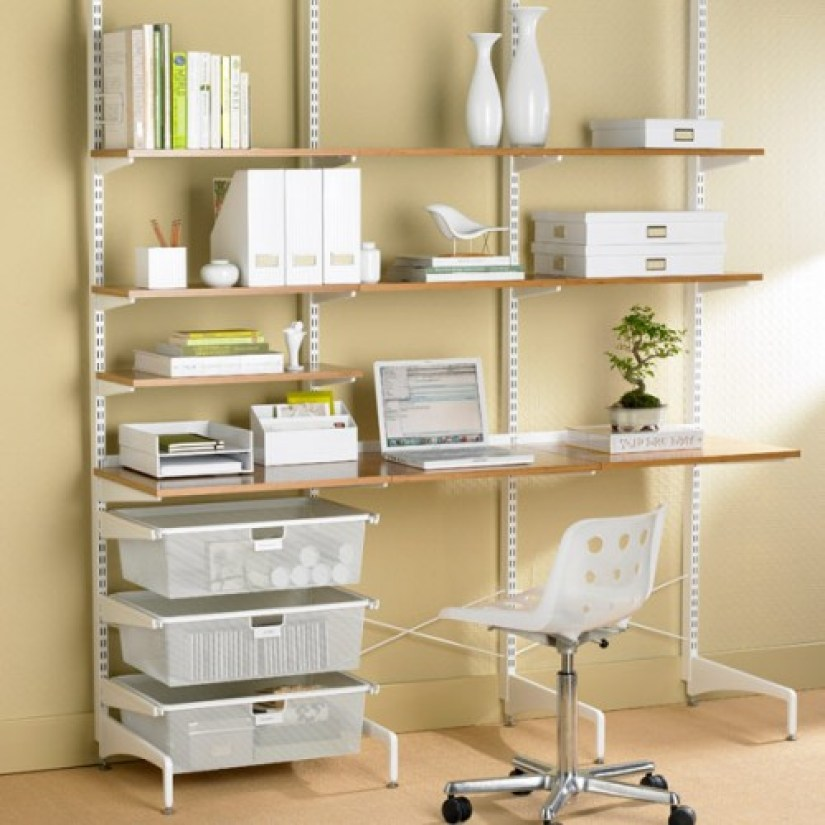 wall shelf ideas for office