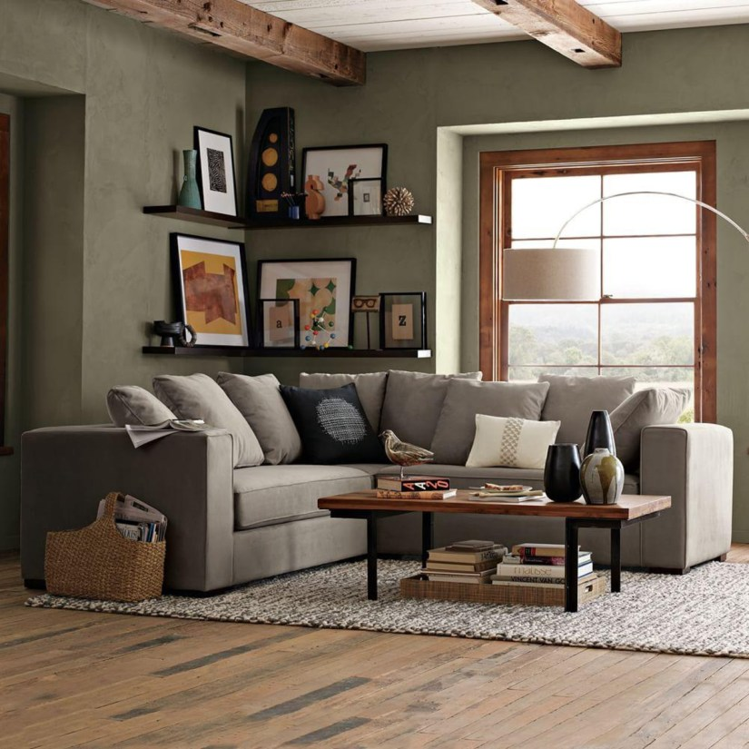 corner shelf ideas for living room