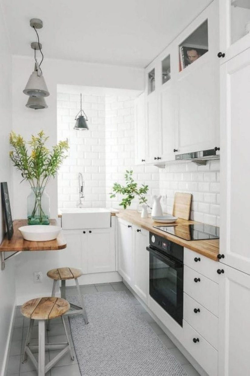 33 Attractive Small Kitchen Design Ideas In 2020 Budget Kitchen Solution