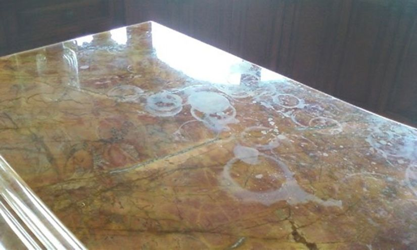 cleaning granite countertops hard water stains