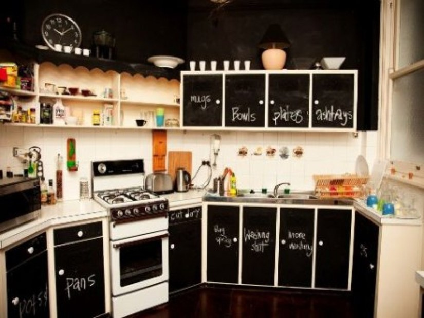 how to redo laminate kitchen cabinets