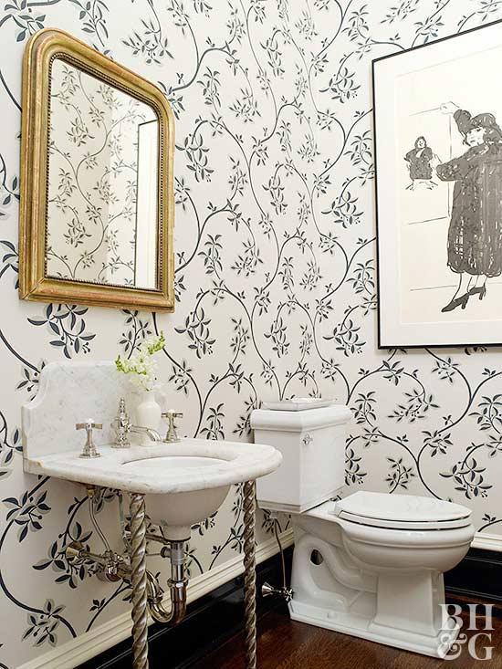 decorate half bathroom ideas
