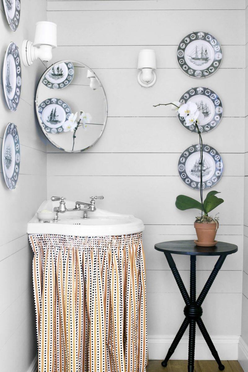 small half bathroom ideas wood and stone