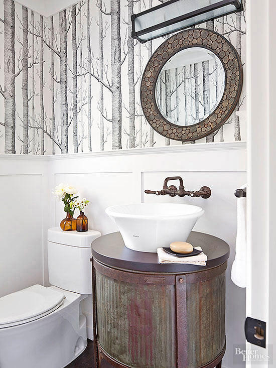 small half bathroom ideas on a budget