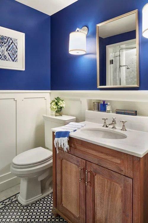 half bathroom ideas pinterest