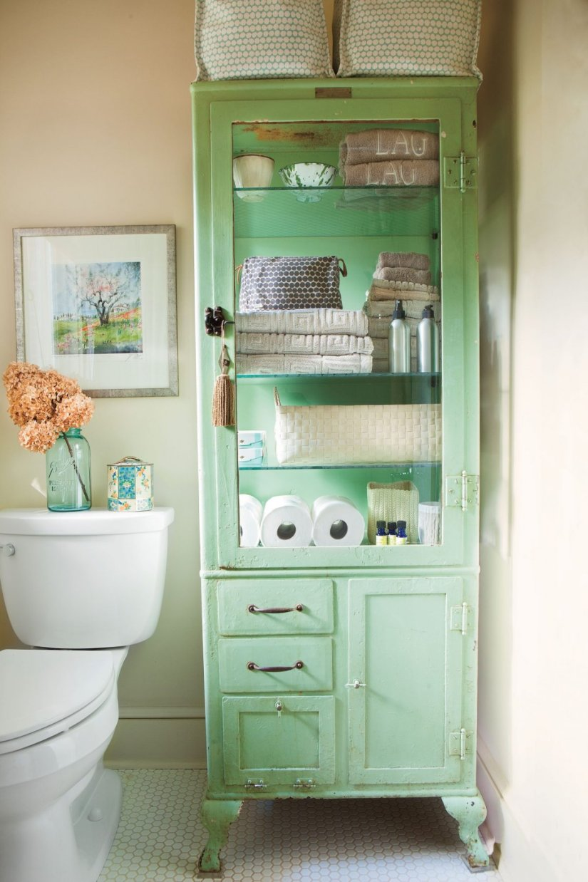 bathroom stand alone cabinet
