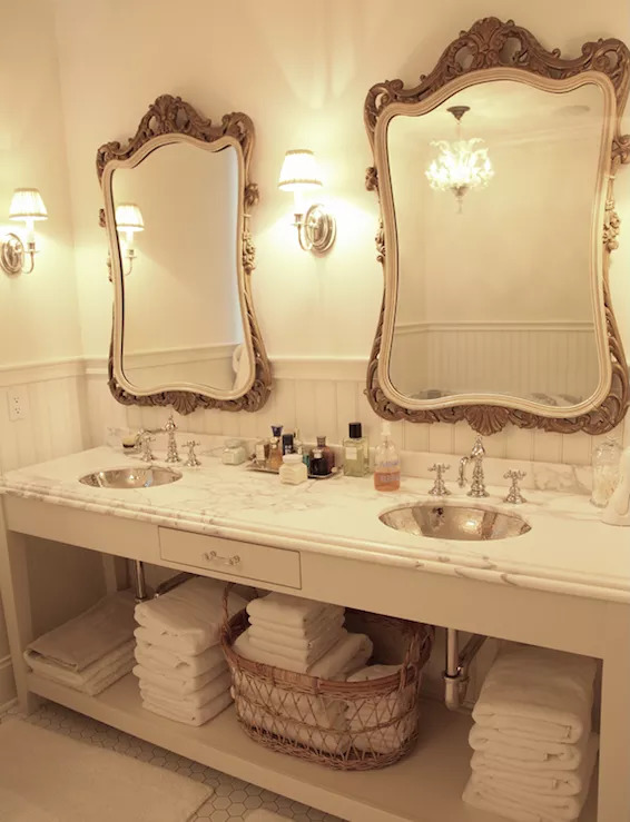 bathroom mirror ideas for double vanity