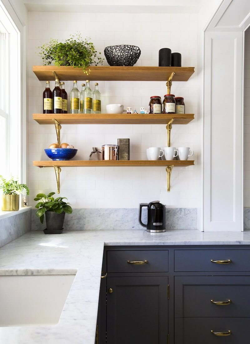 shelves for kitchen makeovers