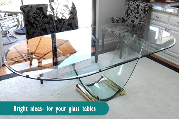 glass sofa table decor