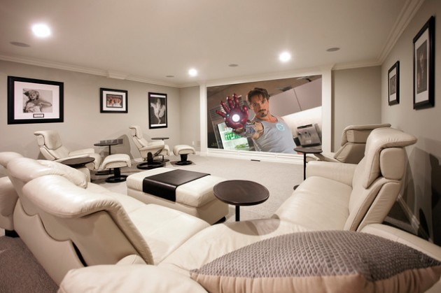 tiered home theater seating