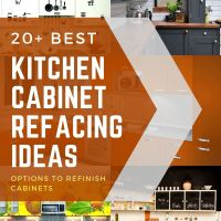 20+ Kitchen Cabinet Refacing Ideas [Options To Refinish Cabinets]