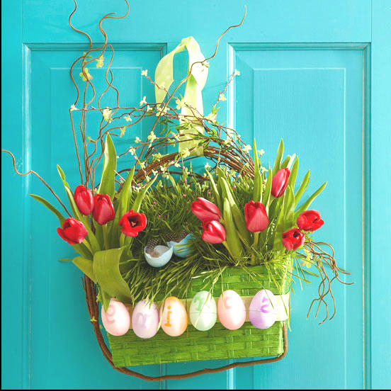 front door decoration for spring
